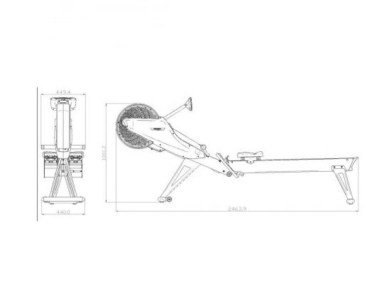 maquina de remo r-500 dkn
