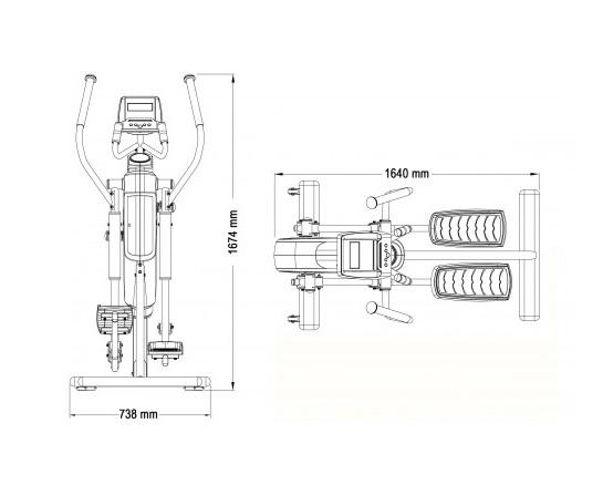 bicicleta eliptica modelo xc170-i marca dkn