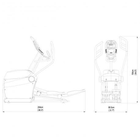 bicicleta eliptica zero-impact-emx-1000 dibujo tecnico