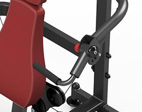 mangos resistentes en maquina de press de hombros dkn mpu226
